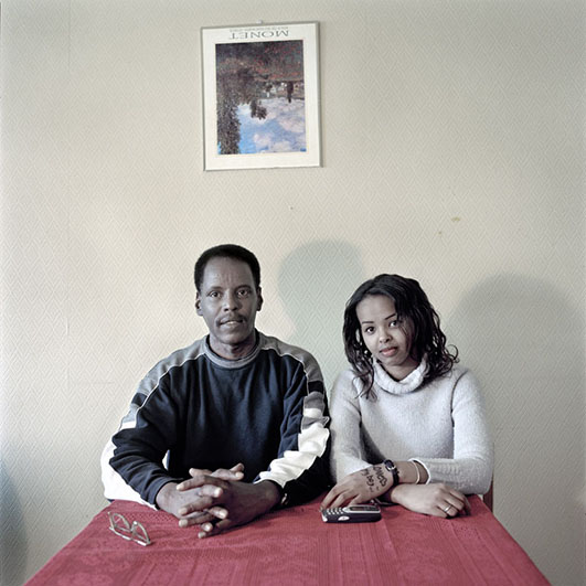 Somalisk far med datter